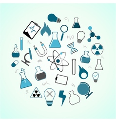 Chemistry science icons vector