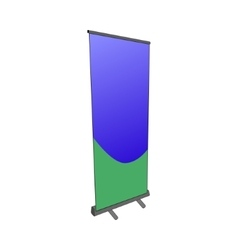 Pillar stand placard banner billboard poster ad vector