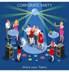 Team Party 01 People Isometric vector image