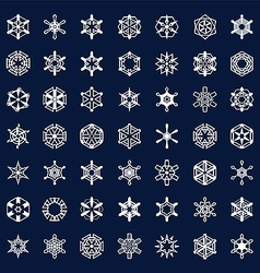icons snowflakes vector image