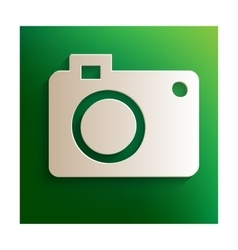 Photo camera sign vector