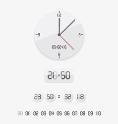 Digital and analog clock vector