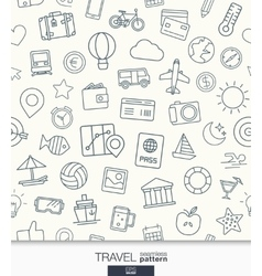 Travel wallpaper Black and white trip seamless vector image