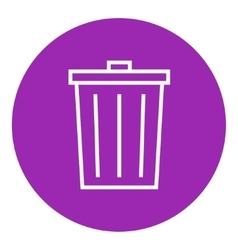 Trash can line icon vector