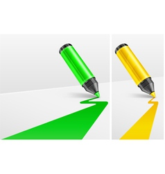 two felt tip pens vector image