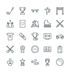 Sports cool icons 5 vector