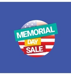 Memorial day sale banner vector
