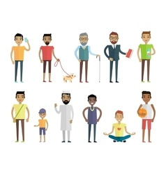 Big set of people characters in flat style vector