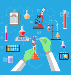 Biology science education equipment vector