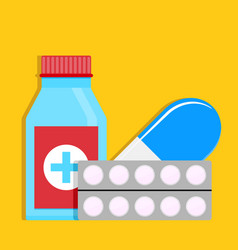 drugs for treatment of common cold vector image vector image