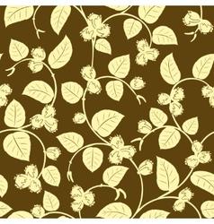 Hazelnut seamless background vector