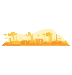 Industrial plant on a background vector