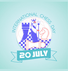 International chess day vector