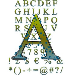 mildew alphabet vector image