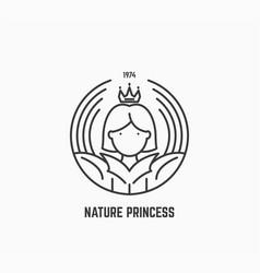 nature princess logo vector image vector image