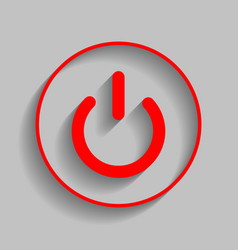 On off switch sign red icon with soft vector