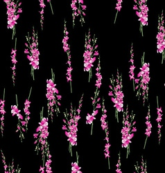 orchids bouquet pattern vector image vector image