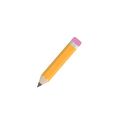 Pencil flat icon education and school element vector