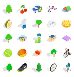 Persistence icons set isometric style vector