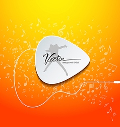 Pick guitar music design on orange background vector