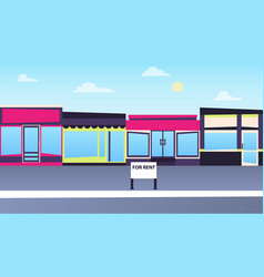 Rent a store in the city vector