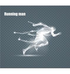 Running Man flying lightning vector image vector image