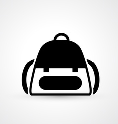 school bag icon vector image vector image
