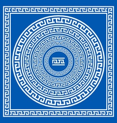 Set collections of greek style ornaments oval vector