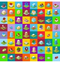 Set of icons isometric house vector