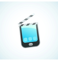 shoot a movie on your phone vector image vector image