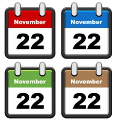 simple calendars vector image vector image