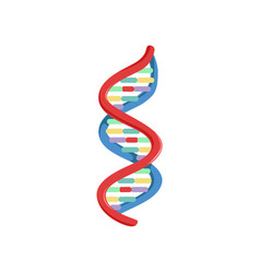 Spiral dna genetic material micro and molecular vector