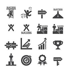 success icon set vector image vector image