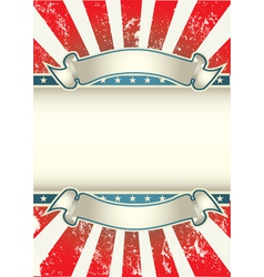 Usa colors poster vector