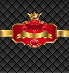 Vintage golden emblem with royal crown vector image vector image
