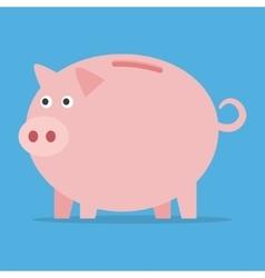 Pink piggy bank vector image