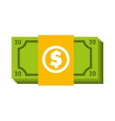 Bill dollar money icon vector