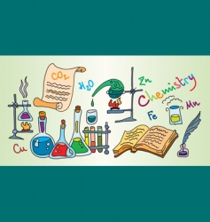 Chemistry lab vector