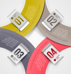 Infographics elements with numbered labels vector