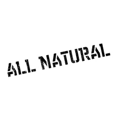 All natural stamp vector image