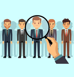employer of choice candidate selection employees vector image