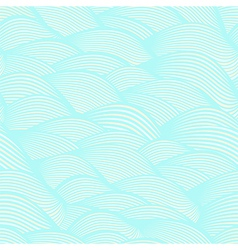 Waves hand drawn seamless pattern vector