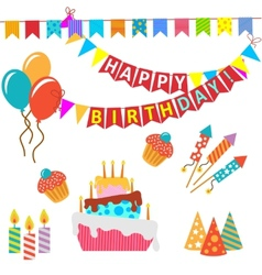 Retro birthday celebration design elements - for vector