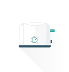 Flat style metal white kitchen toaster vector