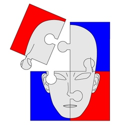 puzzle face vector image