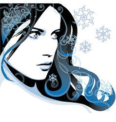 Winter girl vector