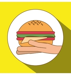 Hamburger icon design vector