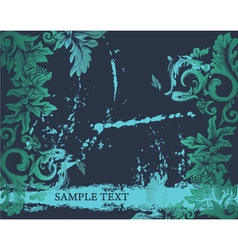 Grunge decorative label vector
