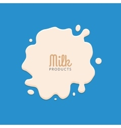 Milk splashing isolated on blue background milk vector