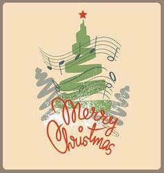 Merry christmas chelebration design vector image